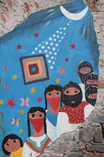 Mural zapatista for Mural zapatista